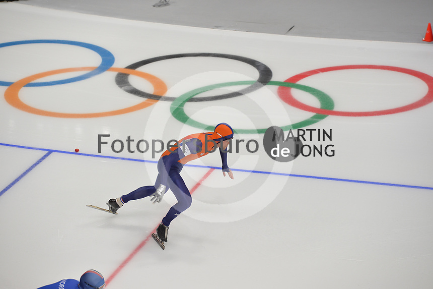 OLYMPIC GAMES: PYEONGCHANG: 19-02-2018, Gangneung Oval, Long Track, 500m Men, Ronald Mulder (NED), ©photo Martin de Jong