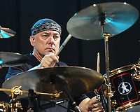 ATLANTA, GA - AUGUST 1: Neil Peart of Rush performs at Atlanta's Hi-Fi Buys Amphitheatre on August 1, 2004. <br /> CAP/MPI/CM<br /> ©CM/MPI/Capital Pictures