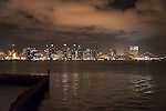 San Diego skyline at nightfall, San Diego California.