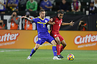 Carson, CA - Sunday January 28, 2018: Almir Bekić, Tyler Adams during an international friendly between the men's national teams of the United States (USA) and Bosnia and Herzegovina (BIH) at the StubHub Center.