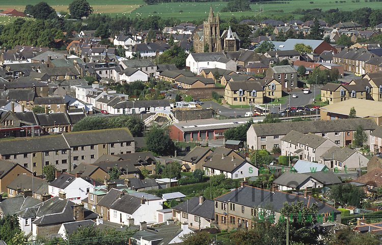 Looking down on the town of Lockerbie Dumfries and Galloway Scotland UK