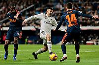 Real Madrid's Dani Ceballos and Valencia CF's Jose Gaya during La Liga match between Real Madrid and Valencia CF at Santiago Bernabeu Stadium in Madrid, Spain. December 01, 2018. (ALTERPHOTOS/A. Perez Meca) /NortePhoto NORTEPHOTOMEXICO