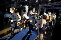 STATE COLLEGE, PA - FEBRUARY 8: Wrestlers of the Penn State Nittany Lions run into the arena before their match against the Iowa Hawkeyes on February 8, 2015 at the Bryce Jordan Center on the campus of Penn State University in State College, Pennsylvania. The Hawkeyes won 18-12. (Photo by Hunter Martin/Getty Images) *** Local Caption ***