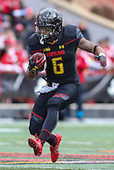 College Park, MD - November 26, 2016: Maryland Terrapins running back Ty Johnson (6) runs the ball during game between Rutgers and Maryland at  Capital One Field at Maryland Stadium in College Park, MD.  (Photo by Elliott Brown/Media Images International)