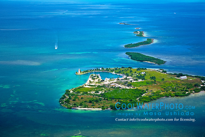 Boca Chita Key and Ragged Keys, Biscayne National Park, aerial picture off Miami, Florida, USA, Caribbean Sea, Atlantic Ocean