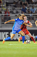 Boyds, MD - Saturday, September 23, 2017: Katie Stengel, Tori Huster during a regular season National Women's Soccer League (NWSL) match between the Washington Spirit and the Boston Breakers at Maureen Hendricks Field, Maryland SoccerPlex.