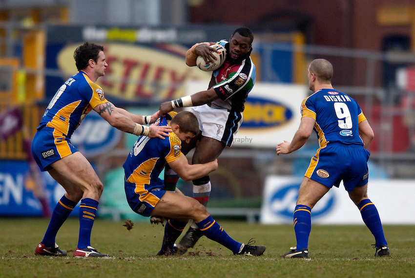 Photo: Jed Wee..Leeds Rhinos v Harlequins Rugby League. Pre Season Friendly. 29/01/2006. ..Joe Mbu.