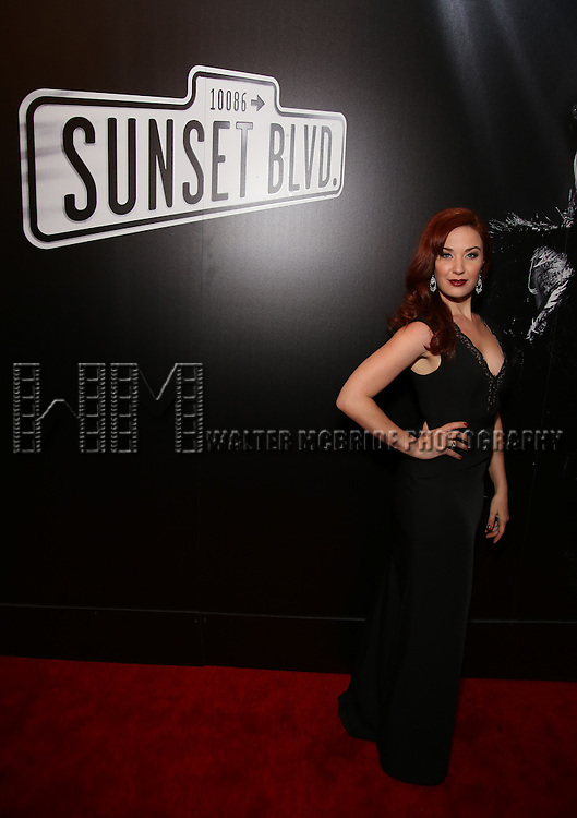 Sierra Boggess attend the Broadway Opening Night of Sunset Boulevard' at the Palace Theatre Theatre on February 9, 2017 in New York City.