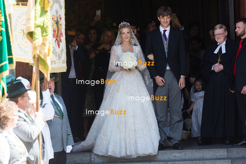 Mariage du Prince Ernst junior de Hanovre et de Ekaterina Malysheva &agrave; l'&eacute;glise Markkirche &agrave; Hanovre.<br /> Allemagne, Hanovre, 8 juillet 2017.<br /> Wedding of Prince Ernst Junior of Hanover and Ekaterina Malysheva at the Markkirche church in Hanover.<br /> Germany, Hanover, 8 july 2017<br /> Pic :  Prince Ernst Junior of Hanover &amp; Ekaterina Malysheva