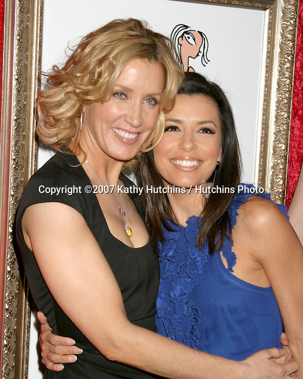"Felicity Huffman & Eva Longoria.Book Party for Felicity Huffman's book ""A Practical Handbook for the Boyfriend"".Iconology.Los Angeles, CA.February 4, 2007.©2007 Kathy Hutchins / Hutchins Photo."