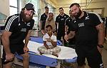 Heiden Bedwell-Curtis (L), Hayden Triggs, Ben May, Codey Rei, Roe Royal. Suva Children's Hospital. Suva, Fiji. July 10 2015. Photo: Marc Weakley