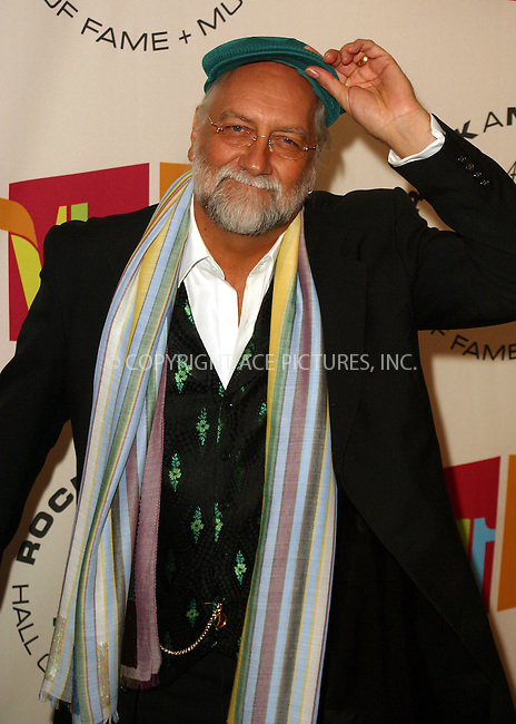 WWW.ACEPIXS.COM . . . . . ....NEW YORK, MARCH 14, 2005....Mick Fleetwood at the 20th Annual Rock And Roll Hall Of Fame Induction Ceremony at the Waldorf Astoria Hotel.....Please byline: PAUL CUNNINGHAM - ACE PICTURES.. . . . . . ..Ace Pictures, Inc:  ..Philip Vaughan (646) 769-0430..e-mail: info@acepixs.com..web: http://www.acepixs.com