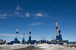 Nabors Drilling Rigs on standby at Prudhoe Bay.