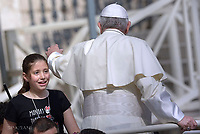 Pope Francis during of a weekly general audience at St Peter's square in Vatican.June 6, 2018