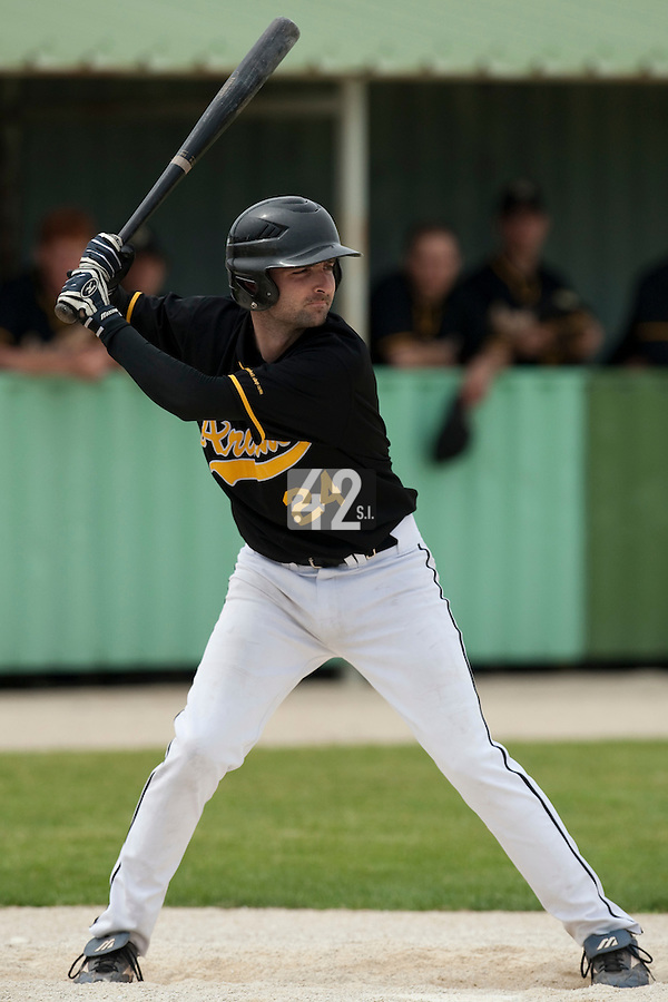 21 May 2009: Aurelien Dalibard of Clermont-Ferrand is seen at bat during the 2009 challenge de France, a tournament with the best French baseball teams - all eight elite league clubs - to determine a spot in the European Cup next year, at Montpellier, France.