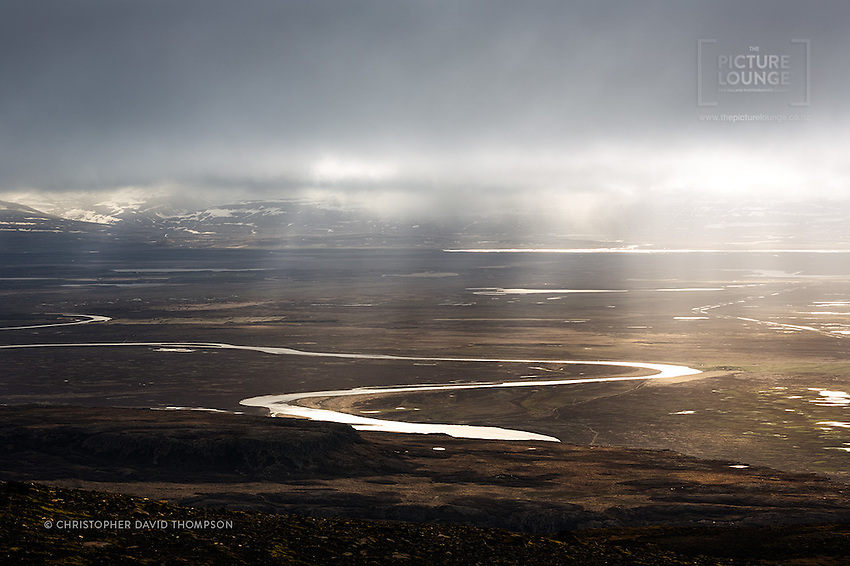 As is typical in Iceland, a landscape of dramatic light and wonder...