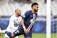 24th July 2020, Stade de France, Paris, France; French football Cup Final, Paris Saint Germain versus  St Ertienne;  10 NEYMAR JR (PSG) celebrates scoring his goal in the 14th minute for 1-0