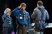 Bear Grylls at the opening ceremony. Photo: Magnus Fröderberg/Scouterna