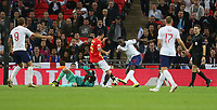 England's Danny Welbeck scores but the goal was disallowed<br /> <br /> Photographer Rob Newell/CameraSport<br /> <br /> UEFA Nations League - League A - Group 4 - England v Spain - Saturday September 8th 2018 - Wembley Stadium - London<br /> <br /> World Copyright &copy; 2018 CameraSport. All rights reserved. 43 Linden Ave. Countesthorpe. Leicester. England. LE8 5PG - Tel: +44 (0) 116 277 4147 - admin@camerasport.com - www.camerasport.com