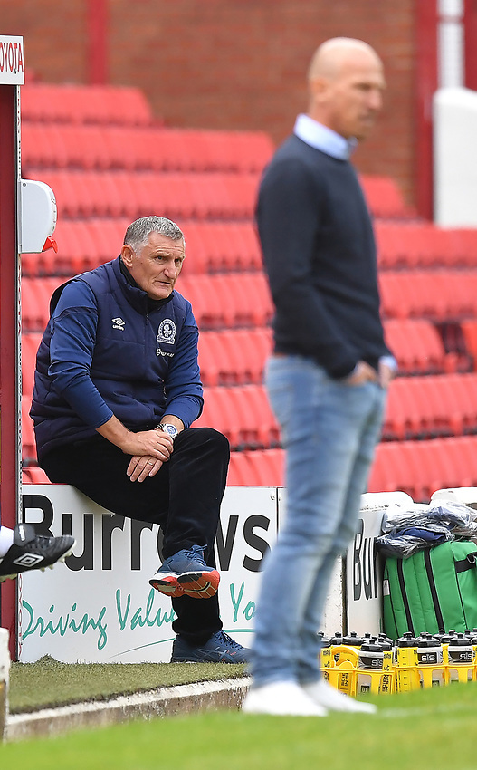 Blackburn Rovers' Manager Tony Mowbray watches the game<br /> <br /> Photographer Dave Howarth/CameraSport<br /> <br /> The EFL Sky Bet Championship - Barnsley v Blackburn Rovers - Tuesday 30th June 2020 - Oakwell - Barnsley<br /> <br /> World Copyright © 2020 CameraSport. All rights reserved. 43 Linden Ave. Countesthorpe. Leicester. England. LE8 5PG - Tel: +44 (0) 116 277 4147 - admin@camerasport.com - www.camerasport.com