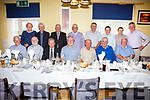 The class of 1962-67 from the CBS in Cahersiveen at their reunion in the Ring of Kerry Hotel on Saturday night pictured front l-r; Michael O'Connor, Anthony Fahy, Mike O'Shea, Albert Groarke, Michéal Hallissey, Teddy O'Sullivan, John Lyne, back l-r; John Keating, Denis McGillicuddy, Michéal Ó Leidhin, John Noel O'Shea, Johnny O'Connell, Connie O'Shea, Owen Landers & Connie O'Shea.