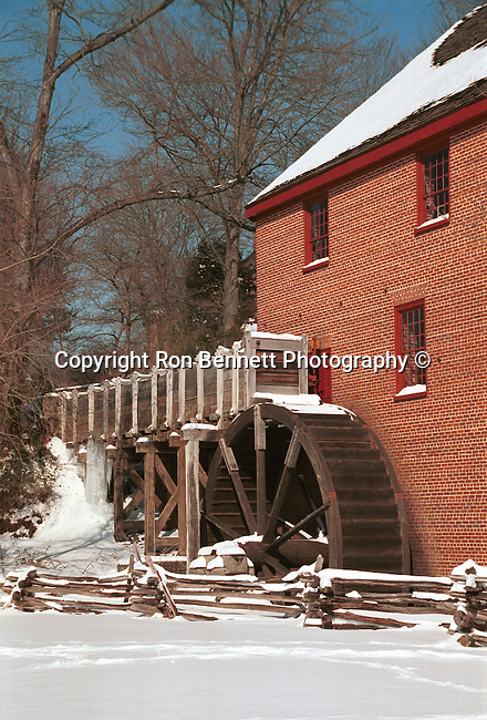 Grist mill in snow Commonwealth of Virginia, Fine Art Photography by Ron Bennett, Fine Art, Fine Art photography, Art Photography, Copyright RonBennettPhotography.com © Fine Art Photography by Ron Bennett, Fine Art, Fine Art photography, Art Photography, Copyright RonBennettPhotography.com ©