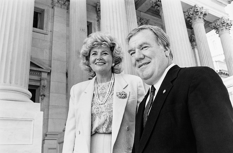 Rep. Carroll Hubbard, D-Ky. with wife Carol Hubbard. (Photo by Maureen Keating/CQ Roll Call)