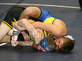 Dale Cronk and John Wratten wrestle at the 160 weight class during the NY State Wrestling Championships at Blue Cross Arena on March 8, 2008 in Rochester, New York.  (Copyright Mike Janes Photography)