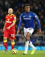 23rd  November 2019; Goodison Park , Liverpool, Merseyside, England; English Premier League Football, Everton versus Norwich City; Alex Iwobi of Everton controls the ball - Strictly Editorial Use Only. No use with unauthorized audio, video, data, fixture lists, club/league logos or 'live' services. Online in-match use limited to 120 images, no video emulation. No use in betting, games or single club/league/player publications