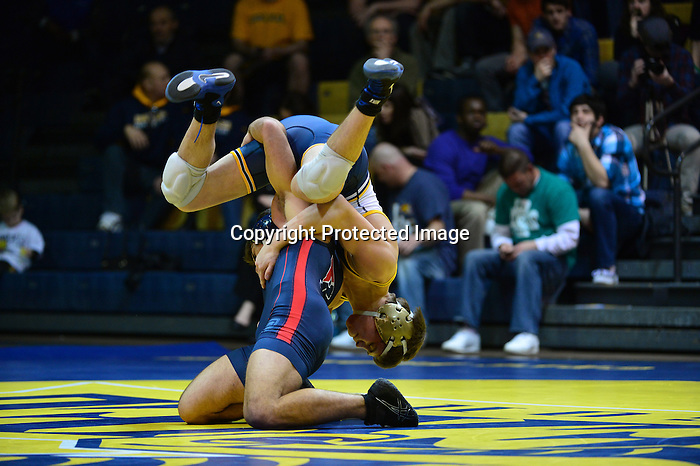 Philadelphia, Pa. - The Drexel wrestling team fell to neighborhood rival Penn, 20-10, on Senior Night at the Daskalakis Athletic Center Saturday evening. With the loss, the Dragons finished their regular season at 7-15 overall and 1-6 EIWA, while the Quakers improve to 8-6, 7-4 EIWA.<br /> <br /> Penn jumped out to an early lead with an 8-3 decision in the 125 match. Kevin Devoy Jr followed by putting the Dragons on the board with a 4-3 lead after taking a 10-2 major decision at 133. At 141, Penn prevailed with a 4-3 decision to go ahead 6-4, despite a strong effort from David Pearce. Noel Blanco responded with a 8-5 decision that put the Dragons back on top, 7-6.<br /> <br /> Despite a number of very close matches and a strong effort from the Drexel wrestlers, Penn took victories in the next four weight classes. Senior Brandon Palik earned a 3-2 win in his last regular season match of his career to cut Penn's lead to 18-10. Joseph Giorgio also put in a strong showing at heavyweight, but Penn's Steven Graziano prevailed in sudden victory, 5-3. After a one team point deduction for unsportsmanlike behavior, Penn ultimately won the dual, 20-10.<br /> <br /> The Dragons will return to action when they compete in the EIWA Tournament beginning on March 8. The squad will travel down 33rd street to the Palestra, where this year's conference tournament is being hosted.<br /> <br /> <br /> Penn 20, Drexel 10<br /> 125: Caleb Richardson (Penn) DEC Tanner Shoap (DU) 8-3<br /> 133: Kevin Devoy Jr (DU) MAJ Ken Bade (Penn) 10-2<br /> 141: Jeff Canfora (Penn) DEC David Pearce (DU) 4-3<br /> 149: Noel Blanco (DU) DEC Andrew Lenzi (Penn) 8-5<br /> 157: Steve Robertson (Penn) DEC Austin Sommer (DU) 7-5<br /> 165: Ray Bethea (Penn) DEC Jason Fugiel (DU) 4-2<br /> 174: Brad Wukie (Penn) DEC Kevin Matyas (DU) 6-3<br /> 184: No. 11 Lorenzo Thomas (Penn) DEC Alex DeCiantis (DU) 4-1<br /> 197: No. 17 Brandon Palik (DU) DEC Frank Mattiace (Penn) 3-2<br /> 285: Steven Graziano (Penn) DEC Joseph Giorgio (DU) 5-3 SV