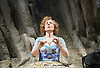 Happy Days <br /> by Samuel Beckett <br /> at The Young Vic, London, Great Britain <br /> press photocall <br /> 18th February 2015 <br /> <br /> Juliet Stevenson as Winnie<br /> <br /> <br /> Photograph by Elliott Franks <br /> Image licensed to Elliott Franks Photography Services
