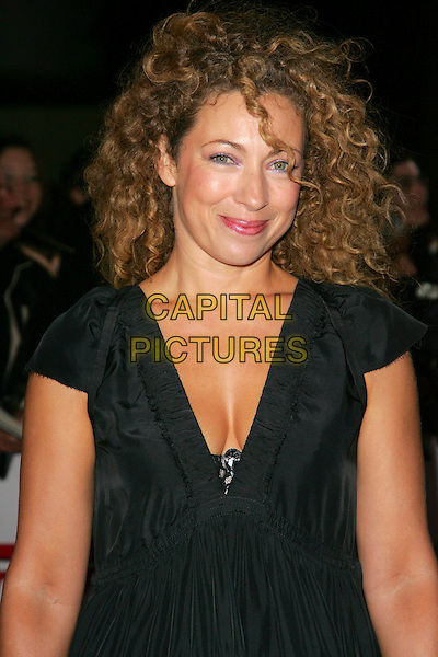 ALEX KINGSTON.National Movie Awards held at the Royal Festival Hall, London, England,..September 28th 2007.half length dress black .CAP/ROS.©Steve Ross/Capital Pictures