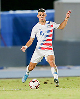 GEORGETOWN, GRAND CAYMAN, CAYMAN ISLANDS - NOVEMBER 19: Alfredo Morales #15 of the United States moves with the ball during a game between Cuba and USMNT at Truman Bodden Sports Complex on November 19, 2019 in Georgetown, Grand Cayman.