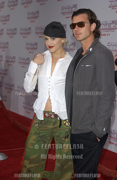 Singer GWEN STEFANI & husband singer GAVIN ROSSDALE at the Hollywood premiere of Charlie's Angels: Full Throttle..June 18, 2003.