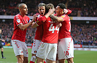 André Green of Charlton Athletic, Conor Gallagher of Charlton Athletic, Darren Pratley of Charlton Athletic and Josh Davison of Charlton Athleticduring Charlton Athletic vs West Bromwich Albion, Sky Bet EFL Championship Football at The Valley on 11th January 2020
