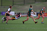 The Wyong Roos play Berkeley Vale Panthers in Round 10 of the Ladies League Tag Central Coast Rugby League Division at Morry Breen Oval on 22nd of Jun, 2019 in Kanwal, NSW Australia. (Photo by Paul Barkley/LookPro)