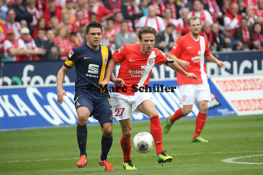 Nikolai Müller (Mainz) gegen Mirko Boland (Braunschweig)- 1. FSV Mainz 05 vs. Eintracht Braunschweig, Coface Arena, 10. Spieltag