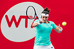 Ons Jabeur of Tunisia competes against Monica Niculescu of Romania during the singles first round match at the WTA Prudential Hong Kong Tennis Open 2018 at the Victoria Park Tennis Stadium on 09 October 2018 in Hong Kong, Hong Kong. Photo by Yu Chun Christopher Wong / Power Sport Images