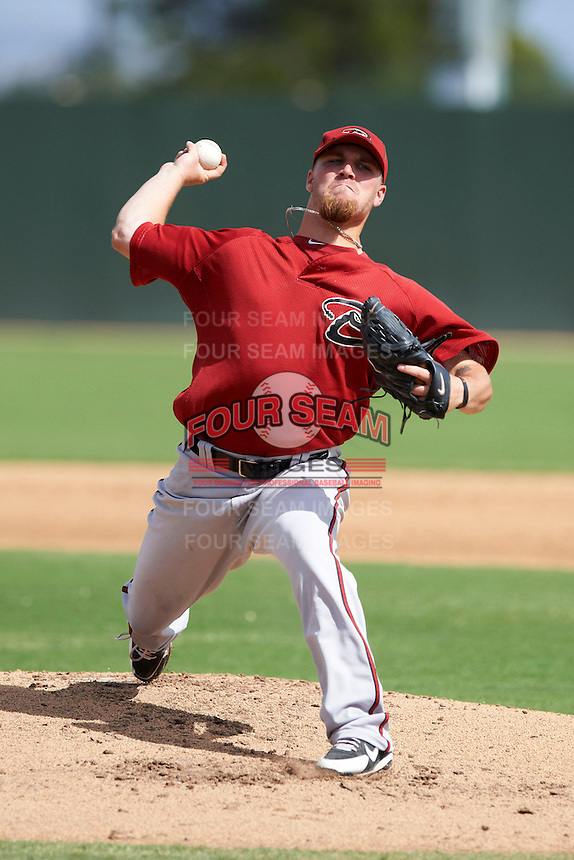 Arizona Diamondbacks minor league pitcher Tyler Green #10 during an instructional league game against the Oakland Athletics at the Papago Park Baseball Complex on October 11, 2012 in Phoenix, Arizona.  (Mike Janes/Four Seam Images)