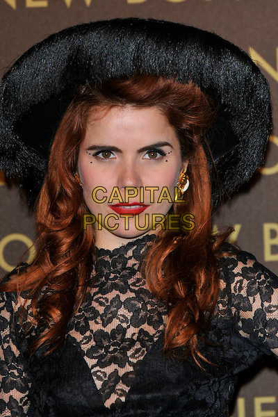 PALOMA FAITH .attends the launch of the Louis Vuitton Bond Street Maison Store in London, England, UK, May 25th, 2010. .portrait headshot black hat lace red lipstick make-up .CAP/PL.©Phil Loftus/Capital Pictures.