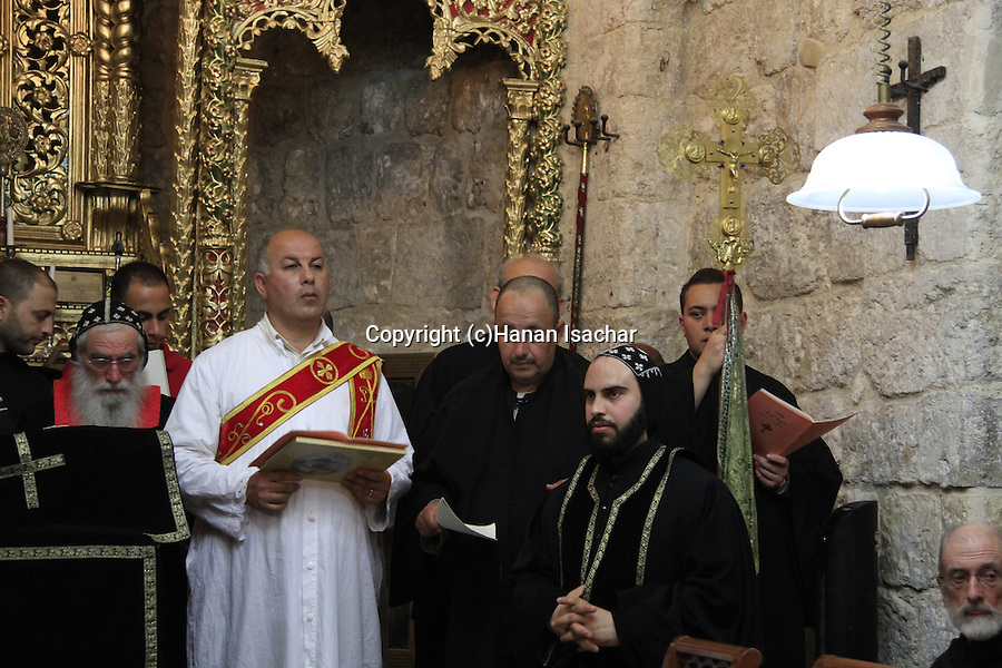Jerusalem, Maundy Thursday at the Syrian Orthodox St. Mark's Church