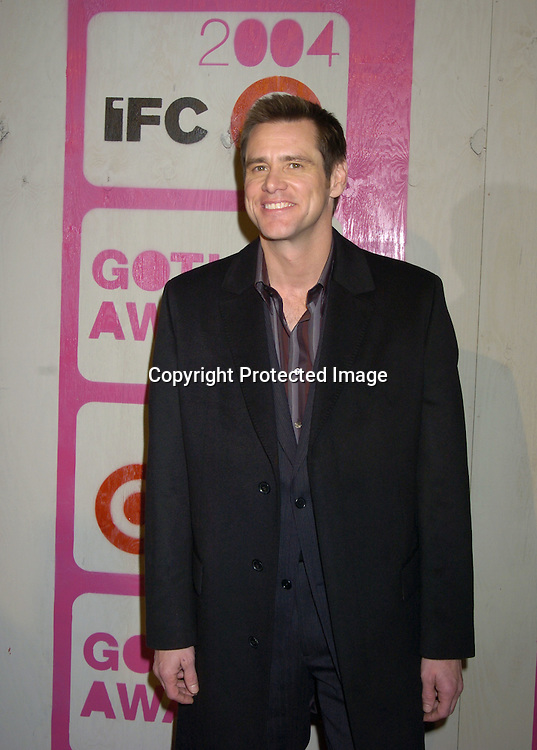 Jim Carrey..at The 14th Annual Gotham Awards Gala presented by IFP/New York on December 1, 2004 at Pier Sixty at Chelsea Piers...Photo by Robin Platzer, Twin Images