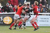 Match action during the Greene King IPA Championship match between Ealing Trailfinders and London Welsh RFC at Castle Bar , West Ealing , England  on 26 November 2016. Photo by David Horn / PRiME Media Images