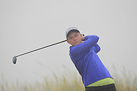 Allan Hill (Athenry) on the 1st tee during Round 1 - Matchplay of the North of Ireland Championship at Royal Portrush Golf Club, Portrush, Co. Antrim on Wednesday 11th July 2018.<br /> Picture:  Thos Caffrey / Golffile