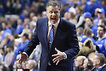 Coach Calipari yells at the bench during the game against the Mississippi State Bulldogs at Rupp Arena on January 20, 2015 in Lexington, Kentucky. Photo by Taylor Pence