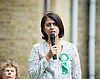 Vauxhall Hustings General Election 2017 at St Mark's Church, Kennington, London, Great Britain <br /> 27th May 2017 <br /> <br /> <br /> <br /> <br /> <br /> Gulnar Hasnain<br /> Green candidate <br /> <br /> <br /> Photograph by Elliott Franks <br /> Image licensed to Elliott Franks Photography Services Vauxhall Outdoor Hustings at St. Mark's Church, 337 Kennington Park Road, London SE11 4PW. A General Election hustings for the Vauxhall constituency has been called by Steve Coulson, the Vicar of St. Mark&rsquo;s Kennington, and Chair of the Friends of St. Mark&rsquo;s Churchyard. The outdoor event will take place at St Mark&rsquo;s on 18 April as part of the popular Oval Farmer&rsquo;s Market.