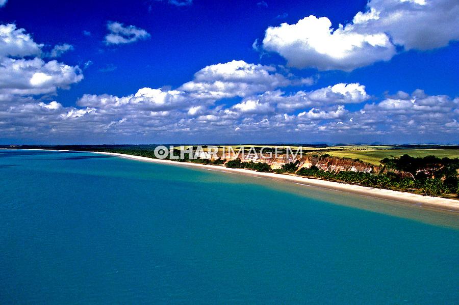 Aérea de praia no litoral de Maceió, Alagoas. 2000. Foto de Stefan Kolumban.