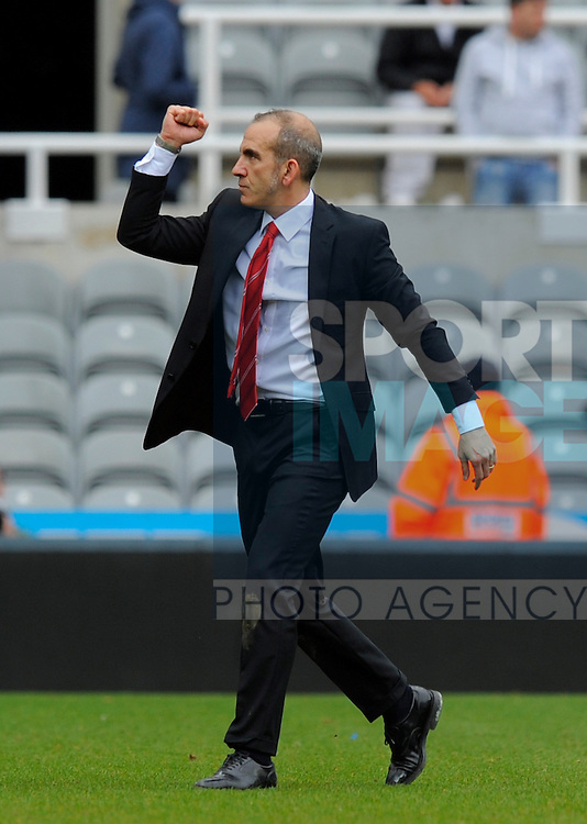 Sunderland manager Paolo Di Canio celebrates victory over arch rivals Newcastle - Barclays Premier League - Newcastle Utd vs Sunderland - St. James' Park - Newcastle - 14/04/13 - Picture Richard Lee/Sportimage
