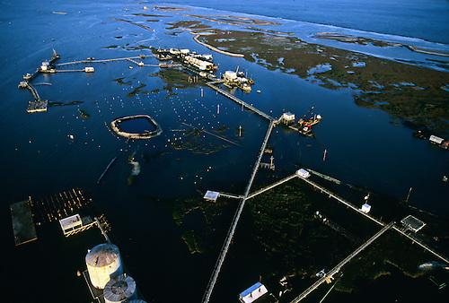 Oil exploration completely destroys a fragile island off the coast of Louisiana