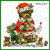 GIORDANO, CHRISTMAS ANIMALS, WEIHNACHTEN TIERE, NAVIDAD ANIMALES, Teddies, paintings+++++,USGI1519,#XA#